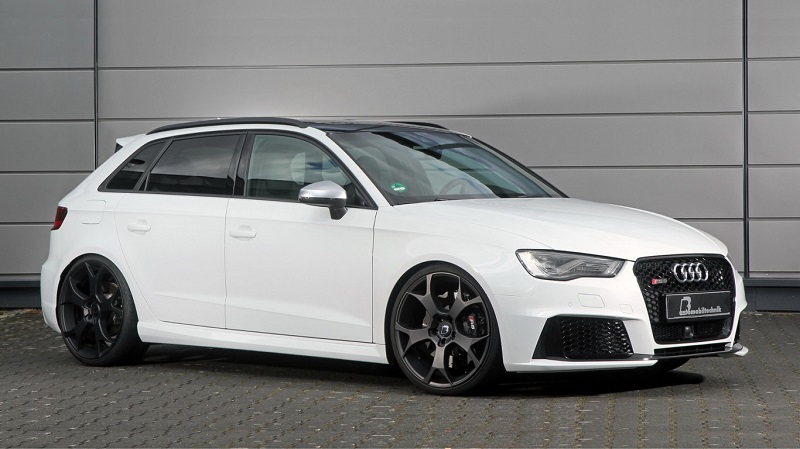If you have an Audi RS3 can already boast against the Audi R8 because this preparation takes 555 hp